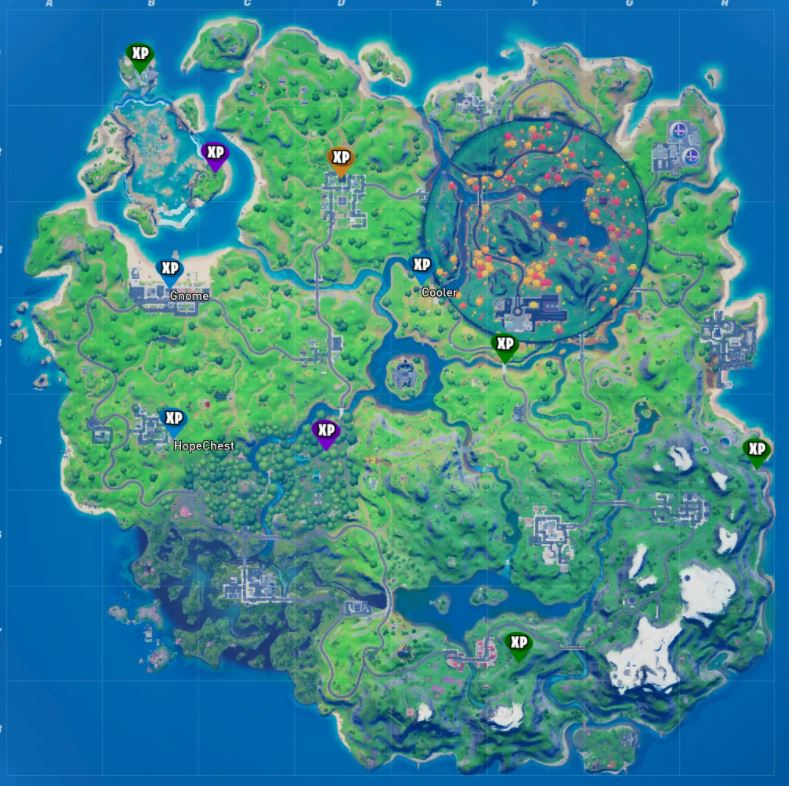 All Fortnite Week 7 XP Coins Map Locations