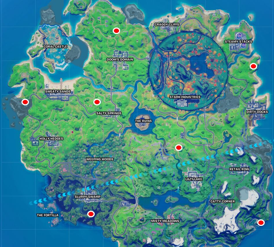 All Fortnite Witch Shack Locations Map