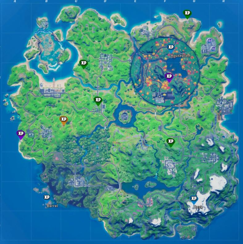 All Fortnite week 6 xp coins map locations