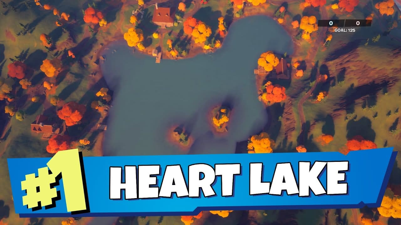 Catch Fish at Heart Lake Fortnite Location