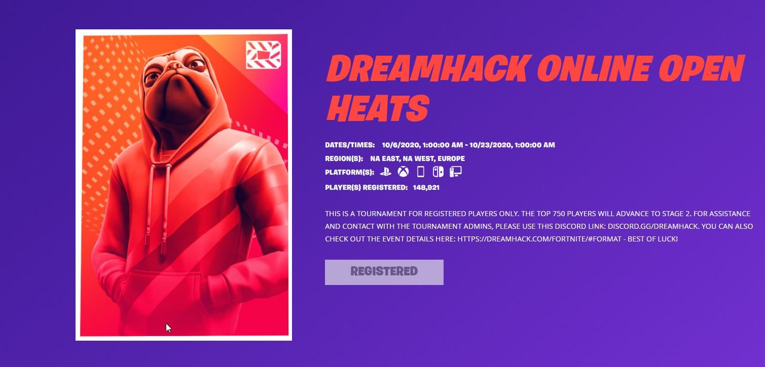 Dreamhack Fortnite Register