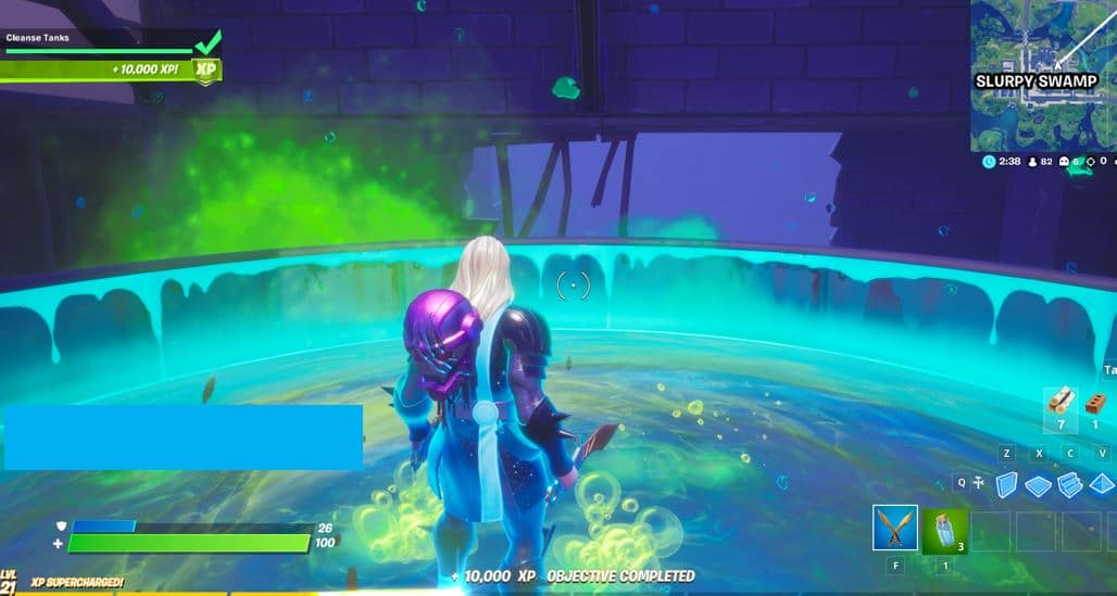 Fortnite Capítulo 2, Temporada 4 Secret Quest - Limpiar los tanques