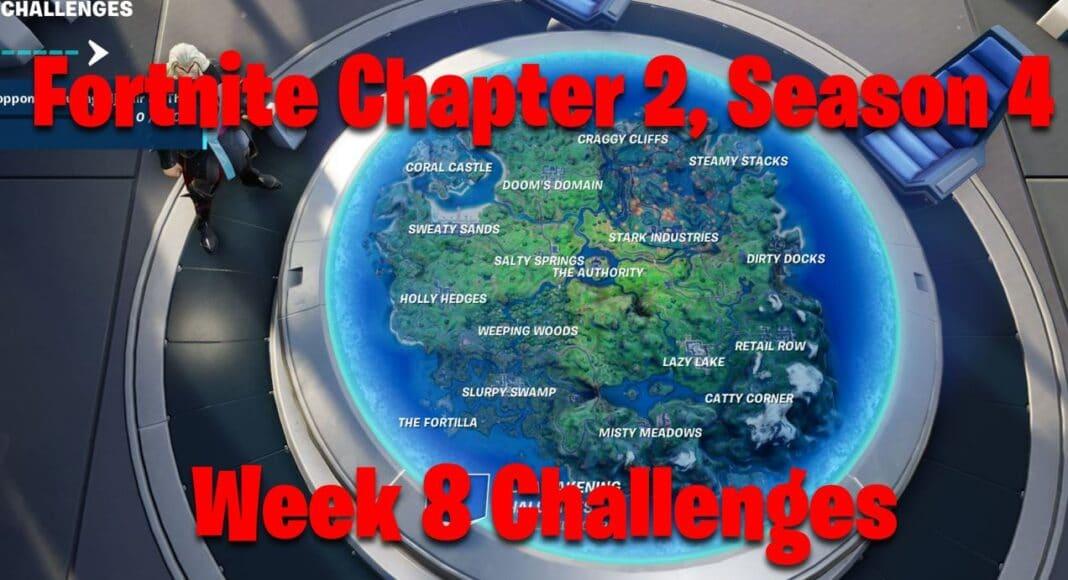 Fortnite Chapter 2, Season 4 Week 8 Challenges