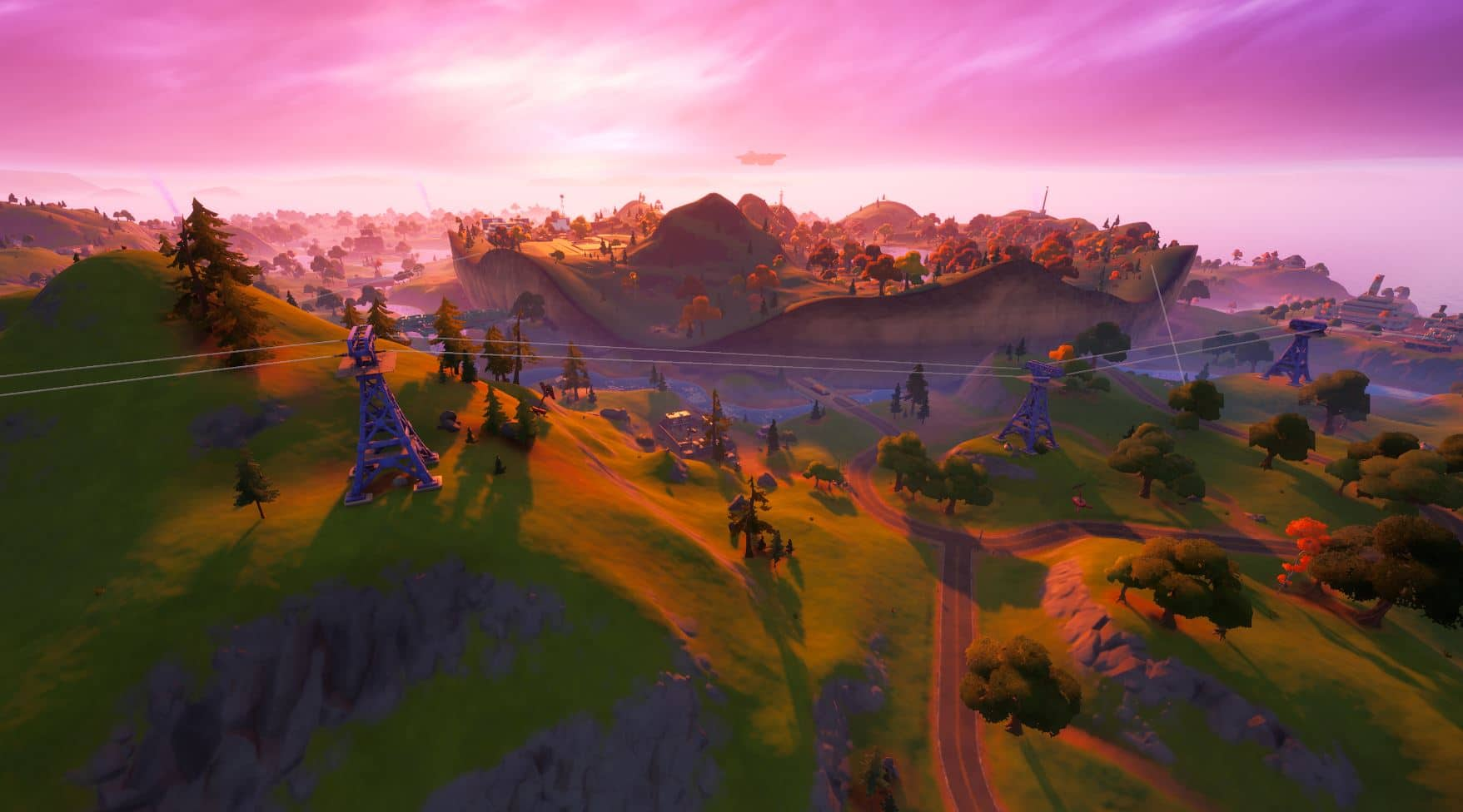Tirolinas de Fortnite: tirolina desde Retail Row hasta Steamy Stacks