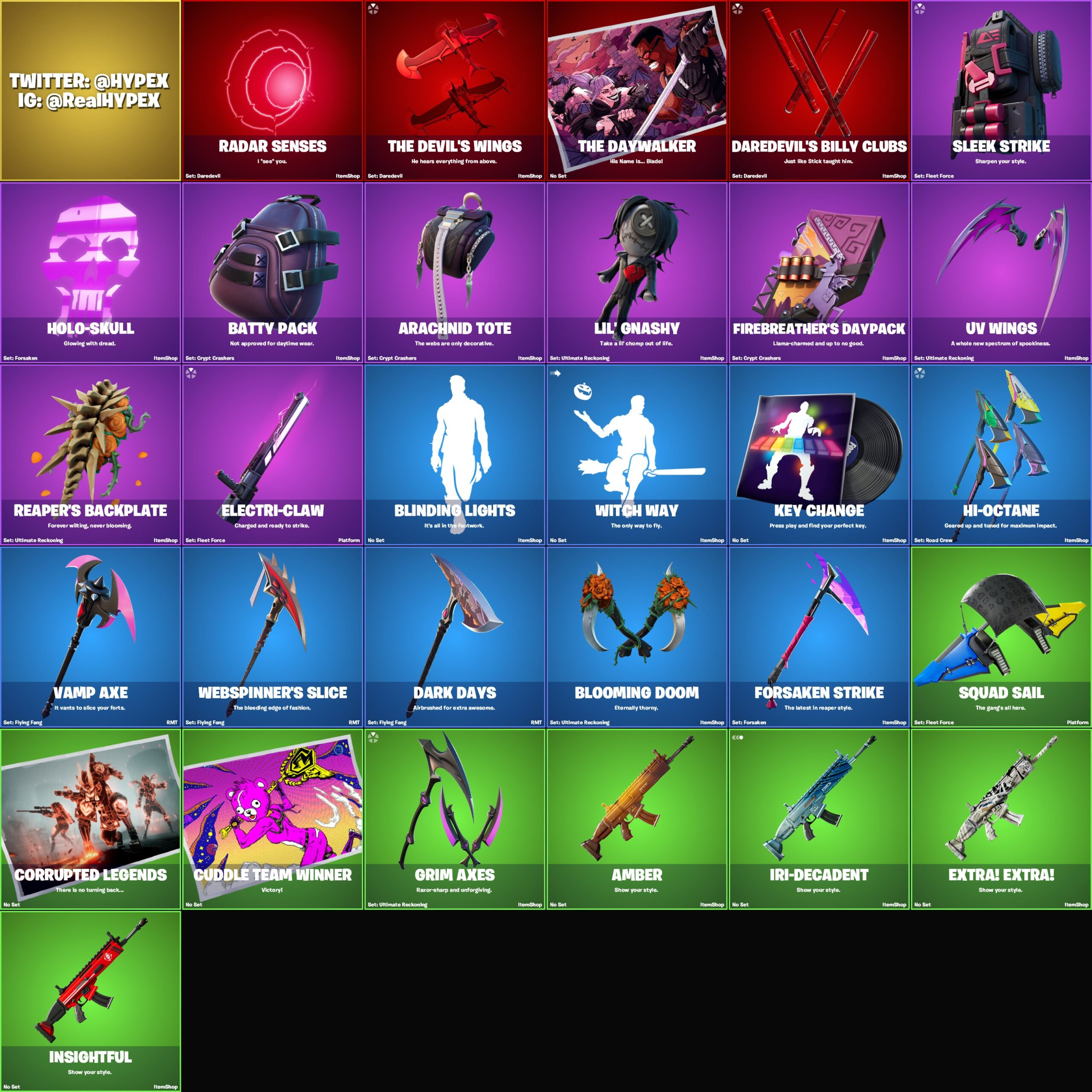 Fortnite v14.30 Leaked Cosmetics