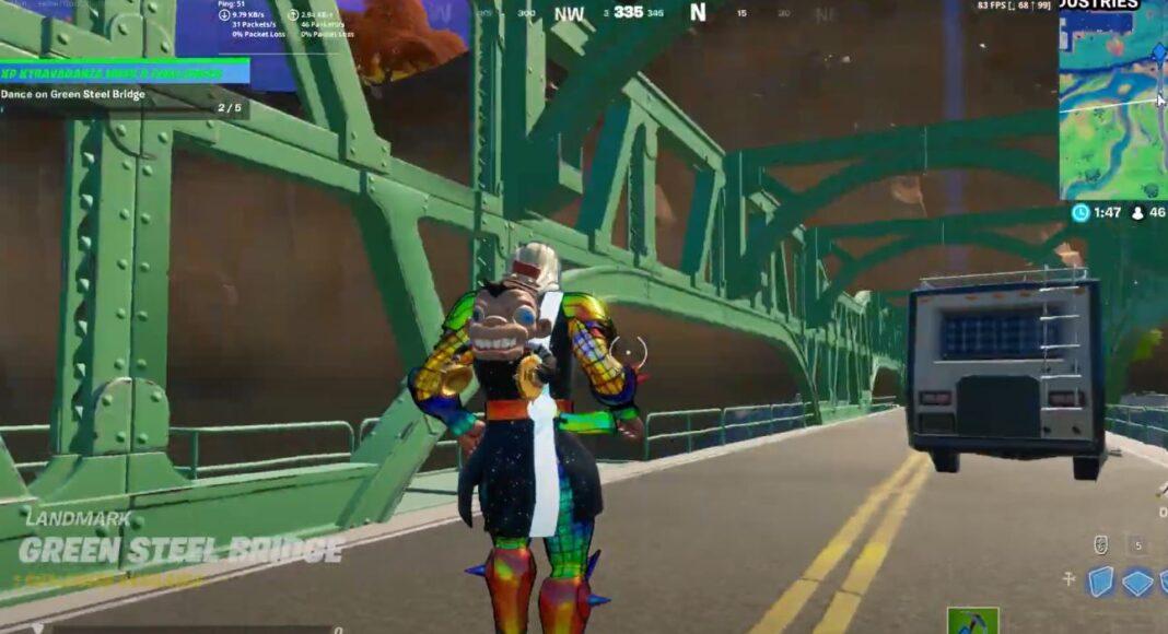 Dance on Colored Bridges Fortnite