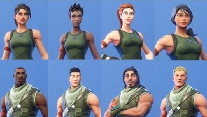 Default Fortnite Skins
