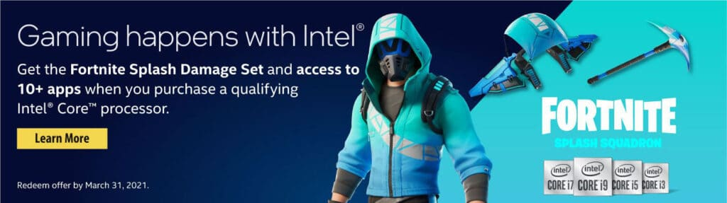 Intel X Fortnite Software Offer How To Get The Free Surf Strider Skin Splash Squadron Set Fortnite Insider Operation snowdown is the upcoming challenge set for fortnite winterfest 2020. intel x fortnite software offer how