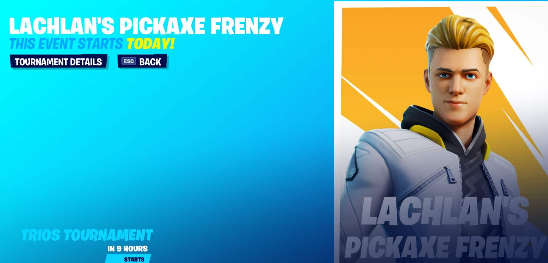 Torneo Fortnite Frenzy Pickaxe Lachlan Cup