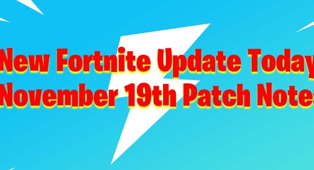 New Update Fortnite November 19th v2.95