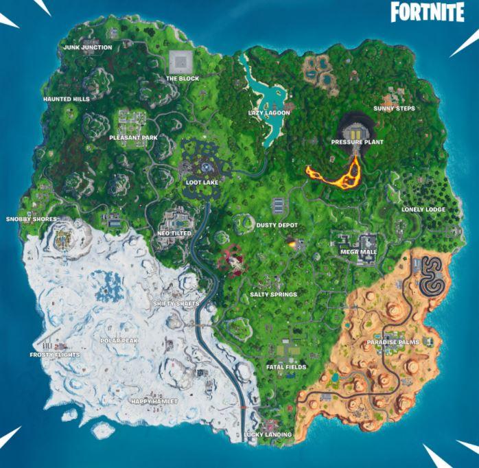 Vecchia mappa di Fortnite