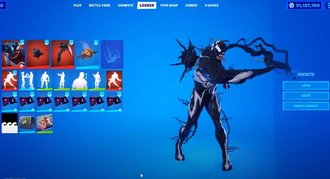 Fortnite Venom Skin Symbiote Slasher Pickaxe We Are Venom Emote Tendril Tote Back Bling Leaked Fortnite Insider Venom skin is a marvel fortnite outfit from the venom set. fortnite venom skin symbiote slasher