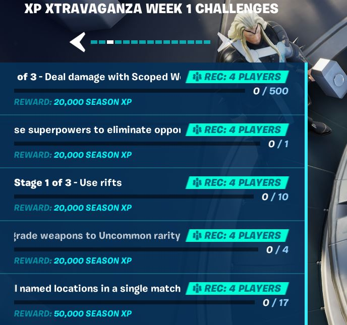 XP Xtravaganza Fortnite