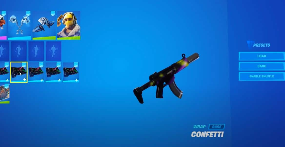 Confetti Fortnite Wrap