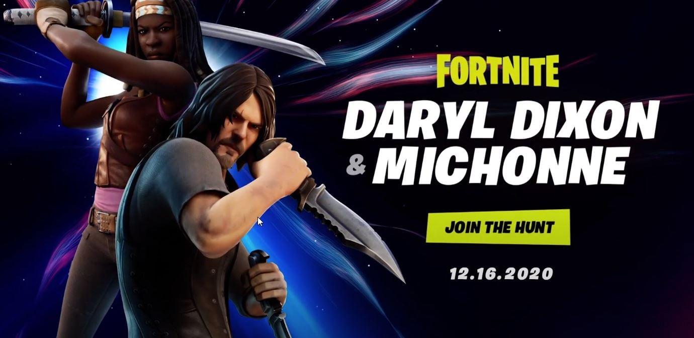 Skins de Daryl Dixon y Michonne Fortnite