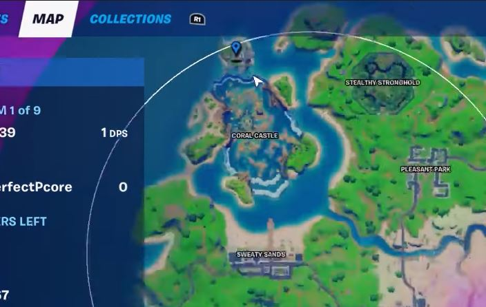 Deep in the belly of the shark Fortnite Map Location