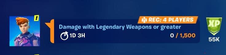 Fortnite Legendary Challenge