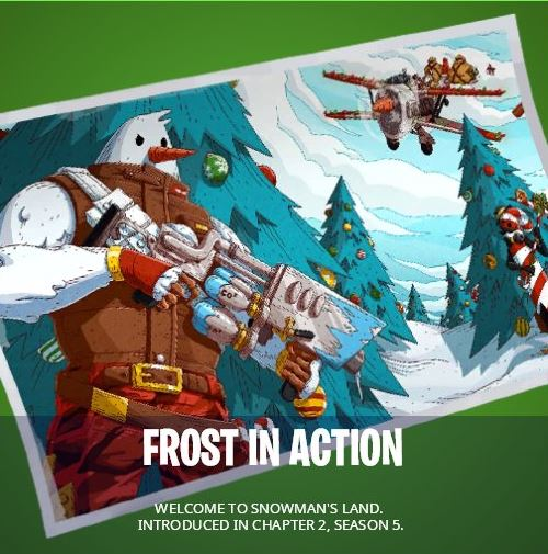 Frost in action Fortnite loading screen