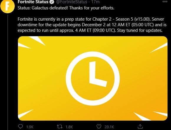 New Fortnite Update v15.00