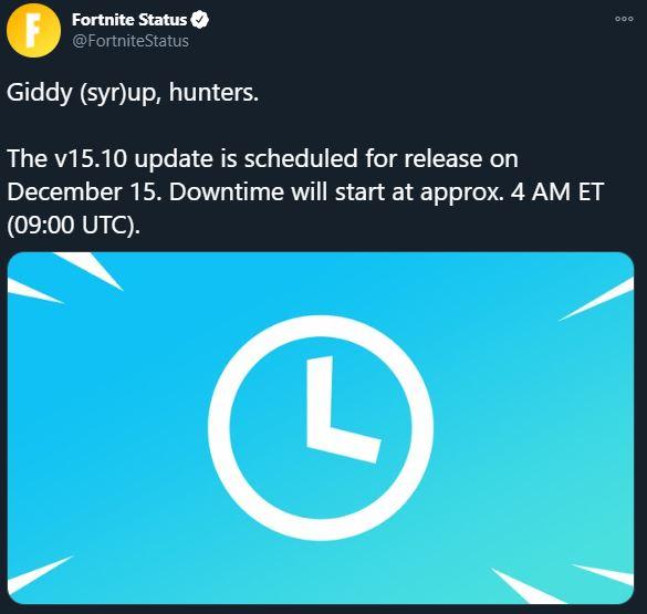 Nueva actualización de Fortnite