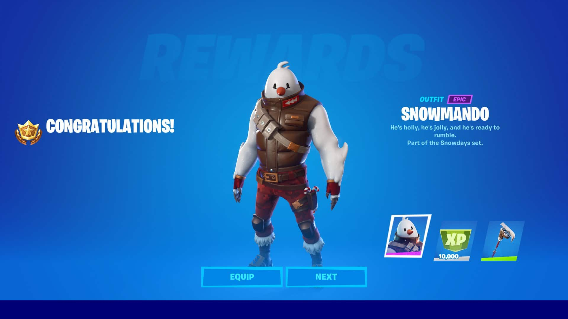 Snowmando Fortnite Skin