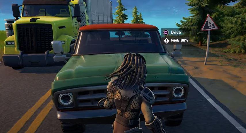 Доставить грузовик Fortnite