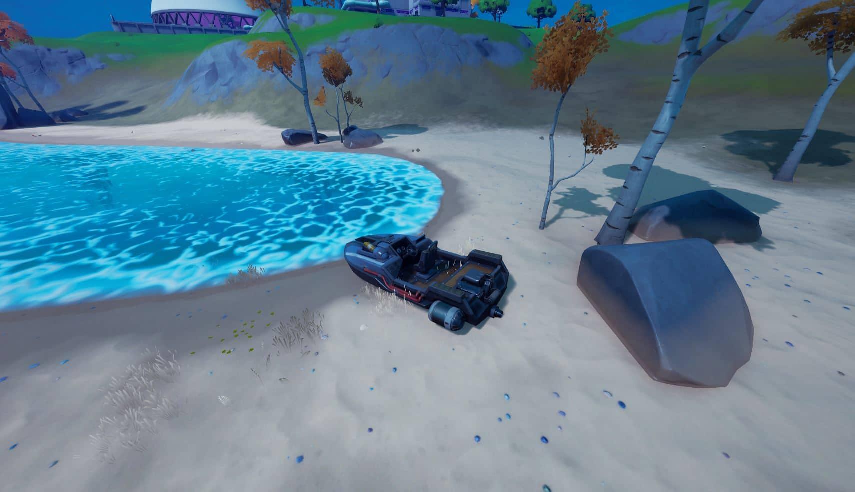 Desafío Fortnite Destruye barcos a motor