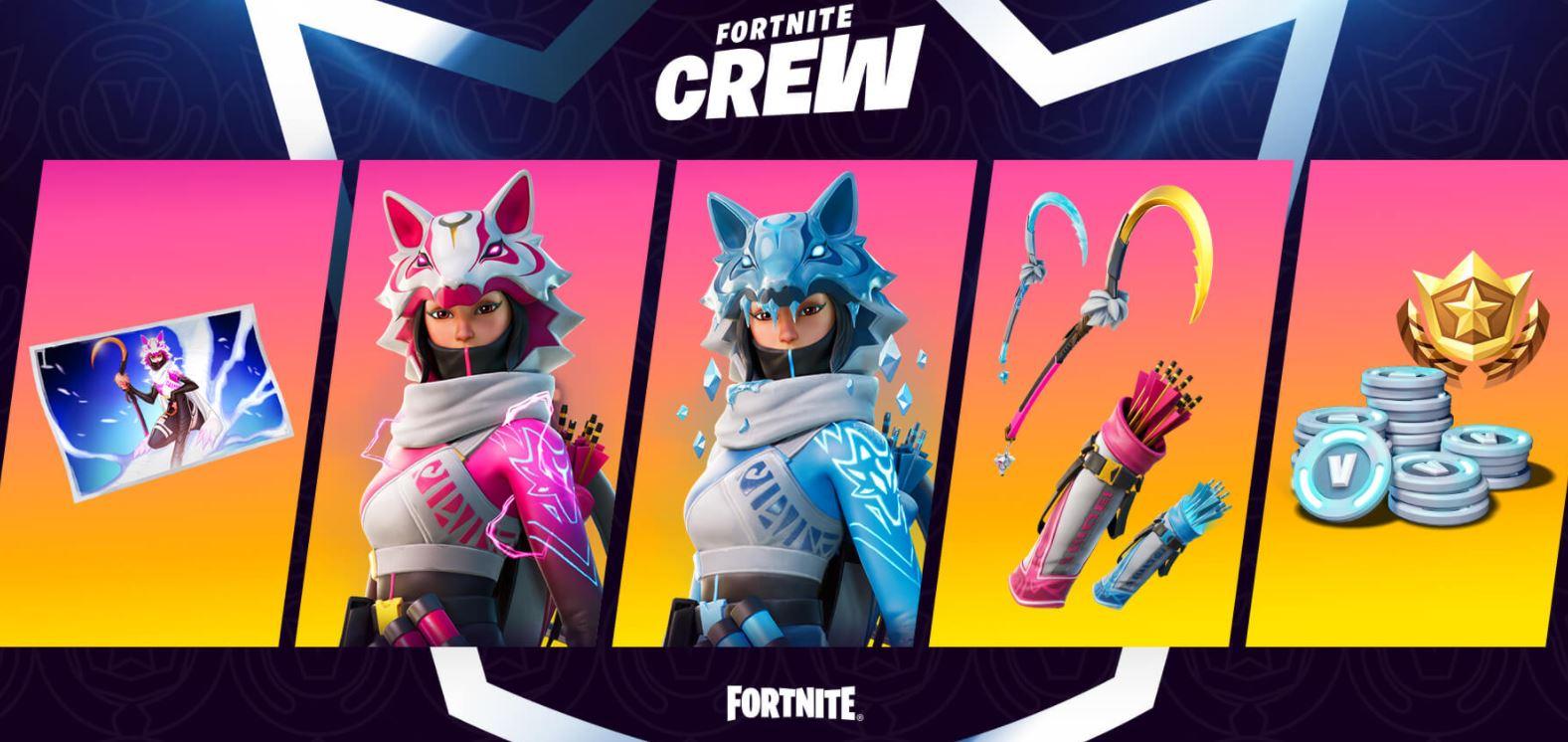 Diseño de Fortnite Crew February Vi