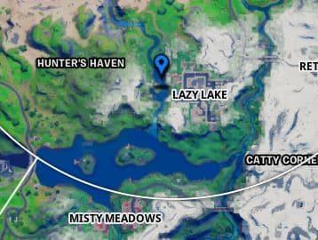 Ubicación de Fortnite Lazy Lake Island