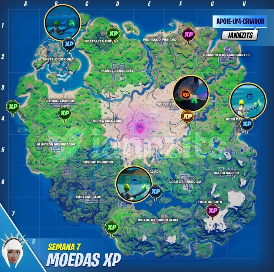 Fortnite week 7 xp coins