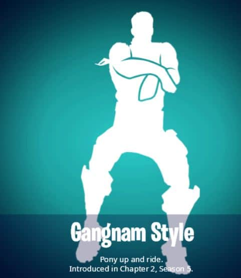 Emote estilo gangnam en Fortnite
