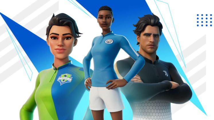 Nuevas pieles de fútbol Fortnite