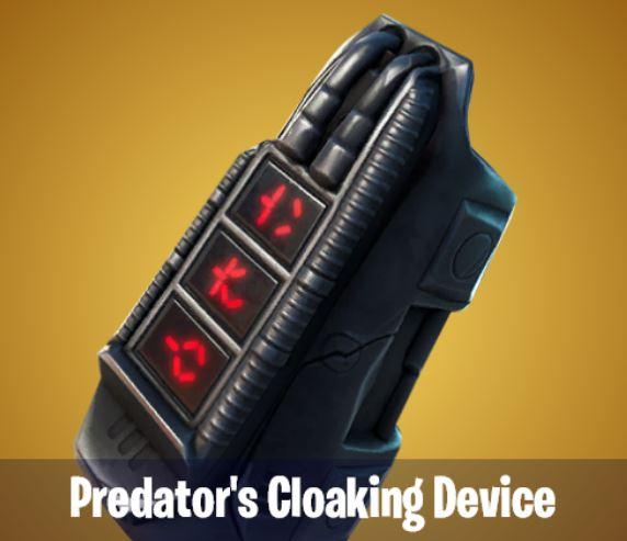 Predator's Cloaking Device Fortnite