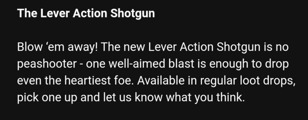 The Lever Action Shotgun Fortnite